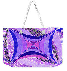 Weekender Tote Bag featuring the drawing Soulviolet by Kim Sy Ok