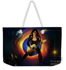 Weekender Tote Bag featuring the digital art Sound Waves by Shadowlea Is