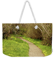 Weekender Tote Bag featuring the photograph Sour Grass Trail by Art Block Collections