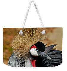 Weekender Tote Bag featuring the photograph South African Crowned Crane by Linda Brown
