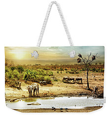 South African Safari Wildlife Fantasy Scene Weekender Tote Bag
