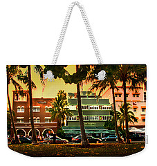 South Beach Ocean Drive Weekender Tote Bag by Steven Sparks