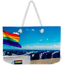 Weekender Tote Bag featuring the photograph South Beach Pride by Melinda Ledsome
