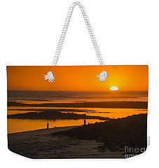 Weekender Tote Bag featuring the photograph South Beach Sunset by Ray Warren