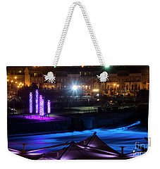 Weekender Tote Bag featuring the photograph South Bend River Night by Brian Jones