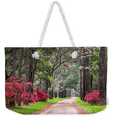 South Carolina Lowcountry Spring Flowers Dirt Road Edisto Island Sc Weekender Tote Bag