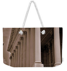 Weekender Tote Bag featuring the photograph South Carolina State House Columns  by Lisa Wooten