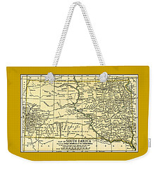 South Dakota Antique Map 1891 Weekender Tote Bag