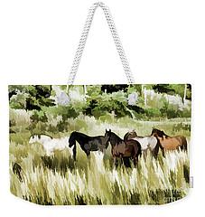 South Dakota Herd Of Horses Weekender Tote Bag by Wilma Birdwell