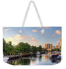 South Florida Canal Living Weekender Tote Bag