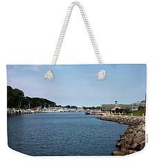 Weekender Tote Bag featuring the photograph South Haven Harbor In September #2 by Jeff Severson