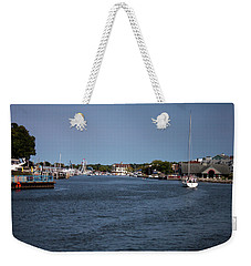 Weekender Tote Bag featuring the photograph South Haven Harbor In September by Jeff Severson
