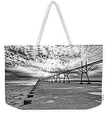 South Haven Pier Wide Angle Weekender Tote Bag
