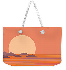 South Sea Morning Moon Weekender Tote Bag