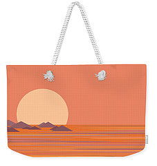 Weekender Tote Bag featuring the digital art South Sea by Val Arie