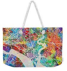 Southampton England City Map Weekender Tote Bag