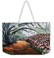 Southern Charm Oak And Azalea Weekender Tote Bag by Patricia L Davidson