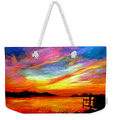 Southern Sunset Weekender Tote Bag by Gail Kirtz