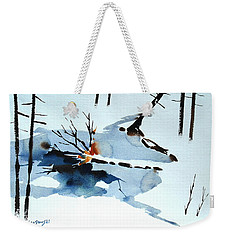 Southern Vermont Roadside Runoff Weekender Tote Bag by Len Stomski