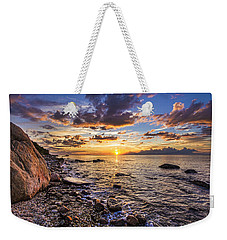 Southold Sunset Weekender Tote Bag