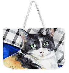 Southpaw - Calico Cat Portrait Weekender Tote Bag