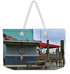 Southport Buoys And Pier Weekender Tote Bag
