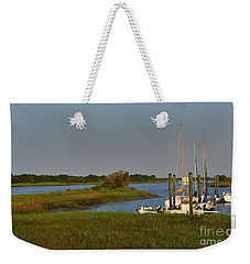 Southport Marina Sunrise Weekender Tote Bag