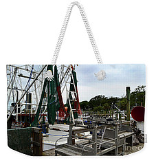 Southport Pier Fishing Boats Weekender Tote Bag