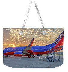 Weekender Tote Bag featuring the photograph Southwest Airlines - The Winning Spirit by Robert Bellomy