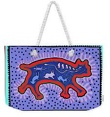 Weekender Tote Bag featuring the digital art Southwest Desert Feral Cat by Vagabond Folk Art - Virginia Vivier
