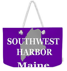 Weekender Tote Bag featuring the photograph Southwest Harbor Maine State City And Town Pride  by Keith Webber Jr
