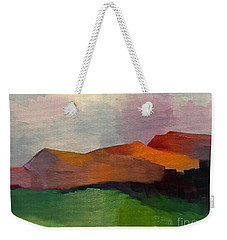 Weekender Tote Bag featuring the painting Southwest Light by Michelle Abrams