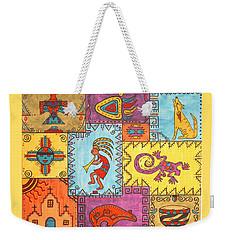 Weekender Tote Bag featuring the painting Southwest Sampler by Susie WEBER