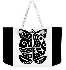 Weekender Tote Bag featuring the digital art Southwest Tribal Tortuga by Vagabond Folk Art - Virginia Vivier