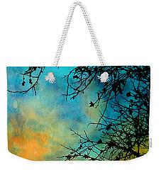Southwest Winter Sunset Silhouette Weekender Tote Bag