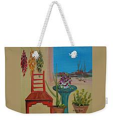 Weekender Tote Bag featuring the painting Southwestern 6 by Judith Rhue