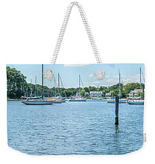 Spa Creek In Blue Weekender Tote Bag