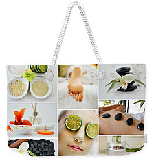 Spa Massage Facial Collage Weekender Tote Bag by Serena King