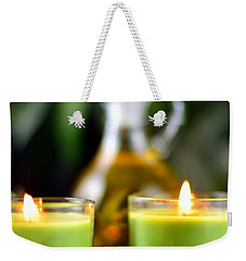 Spa Rocks And Candles Weekender Tote Bag