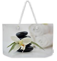 Spa Stones And Flower Weekender Tote Bag