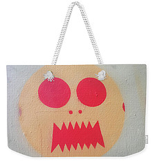 Weekender Tote Bag featuring the photograph Space Alien by Art Block Collections