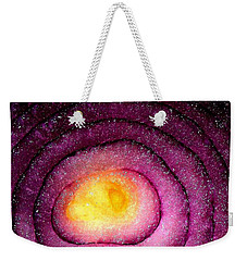 Weekender Tote Bag featuring the photograph Space Allium by Danielle R T Haney