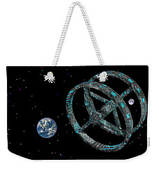 Weekender Tote Bag featuring the photograph Space Base by Mark Blauhoefer