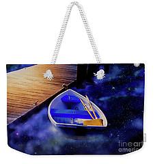 Space Boat Weekender Tote Bag