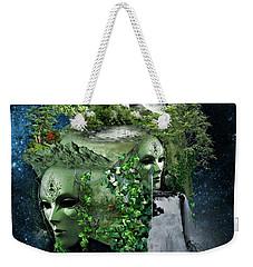 Space Cube Weekender Tote Bag