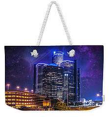 Weekender Tote Bag featuring the photograph Space Detroit by Nicholas  Grunas
