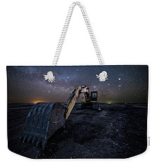Weekender Tote Bag featuring the photograph Space Excavator  by Aaron J Groen