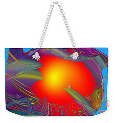 Space Fabric Weekender Tote Bag by Kevin Caudill