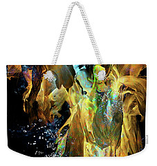 Space Flower Weekender Tote Bag