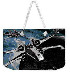 Space Weekender Tote Bag by George Pedro